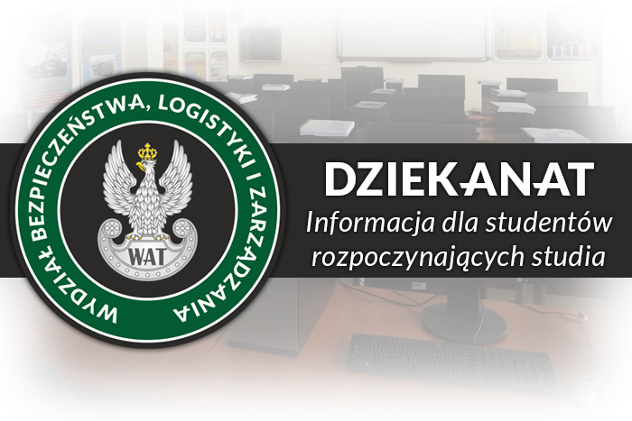INFORMACJA DLA STUDENTÓW ROZPOCZYNAJĄCYCH STUDIA W ROKU AKADEMICKIM 2021/2022